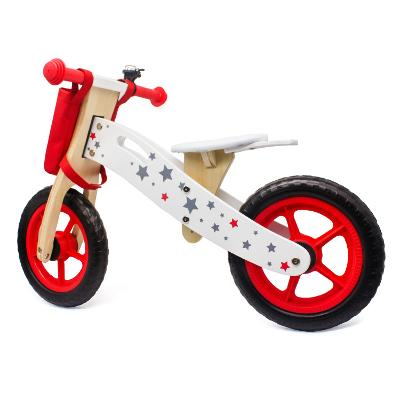 Bicicleta lemn Balance_rosie